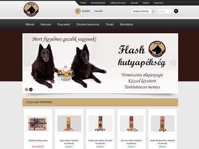 Flash kutyapékség weboldala